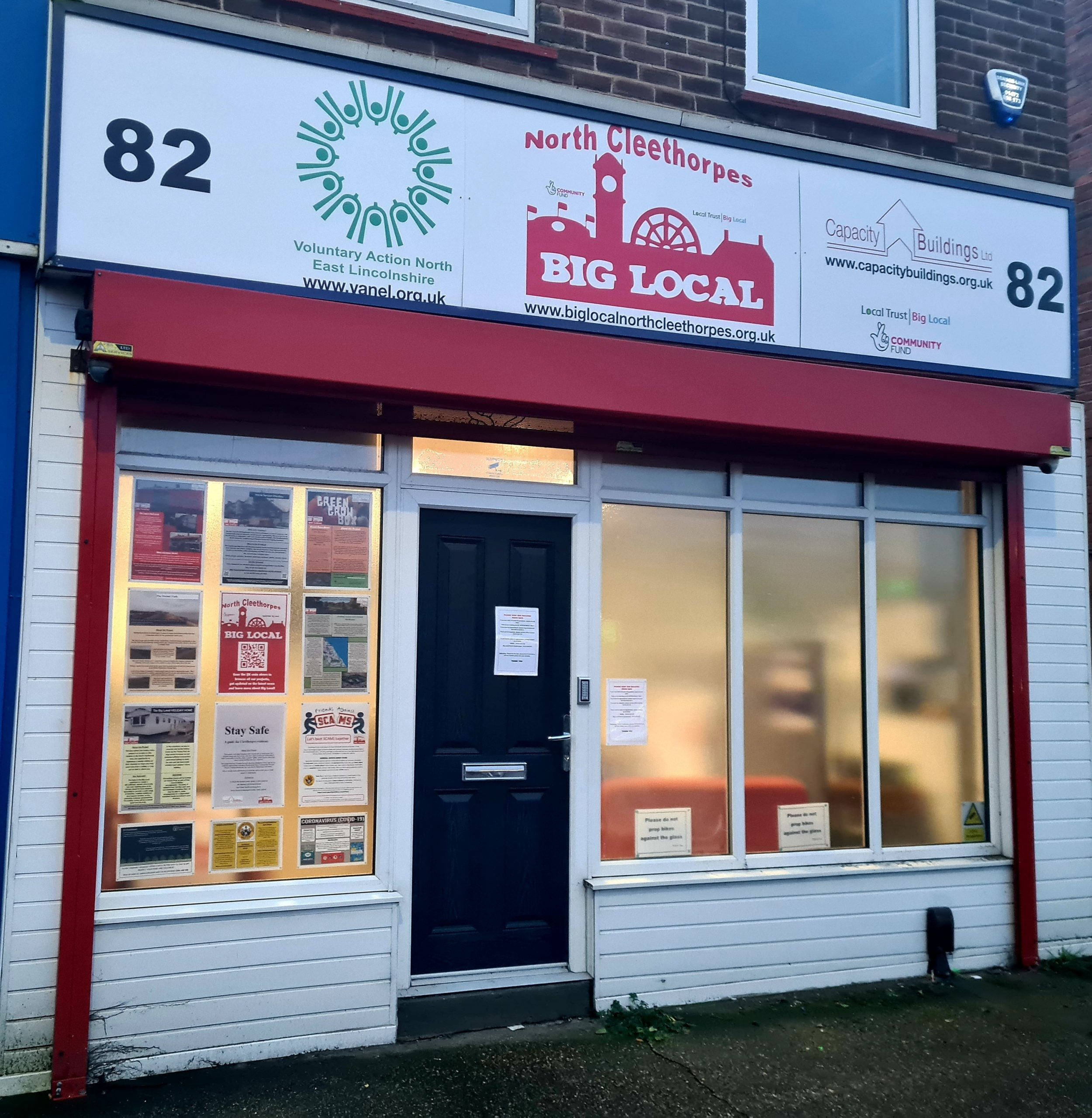 We own 82 Grimsby Road in Cleethorpes on behalf of Big Local North Cleethorpes and the local community. We help manage and run the building as a micro community hub.