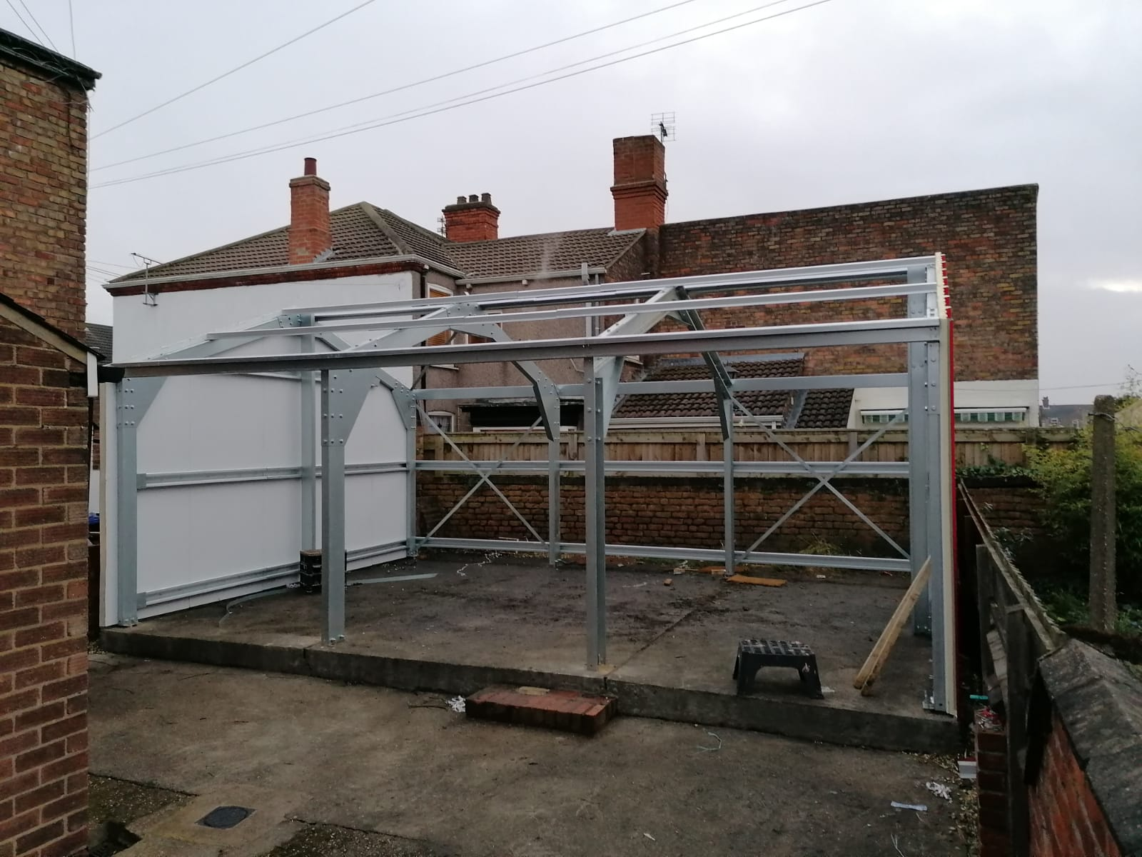The shed takes shape